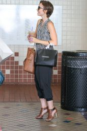 Lily Collins - Shopping in Beverly Hills, October 2015