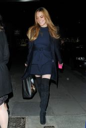Lindsay Lohan - Dines Out at Hakkasan in London, October 2015