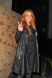 Lindsay Lohan Style - Out in London, October 2015