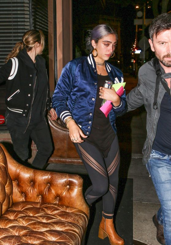 Lourdes Leon - Leaving Her 19th Birthday Party at Via Veneto in Sherman Oaks