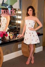 Lucy Hale at Mark. Holiday Collection Event at Crosby Hotel in New York, October 2015
