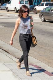 Lucy Hale in Ripped Jeans - Out in Los Angeles, October 2015