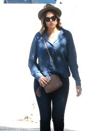 Mandy Moore - Leaving Meche Salon in West Hollywood, October 2015