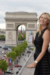 Maria Sharapova - Photoshoot for Evian Water at the Maison du Danemark in Paris (2015)