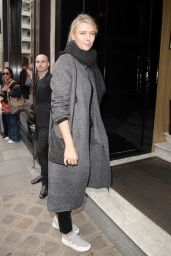 Maria Sharapova Street Style - Out in Paris, October 2015
