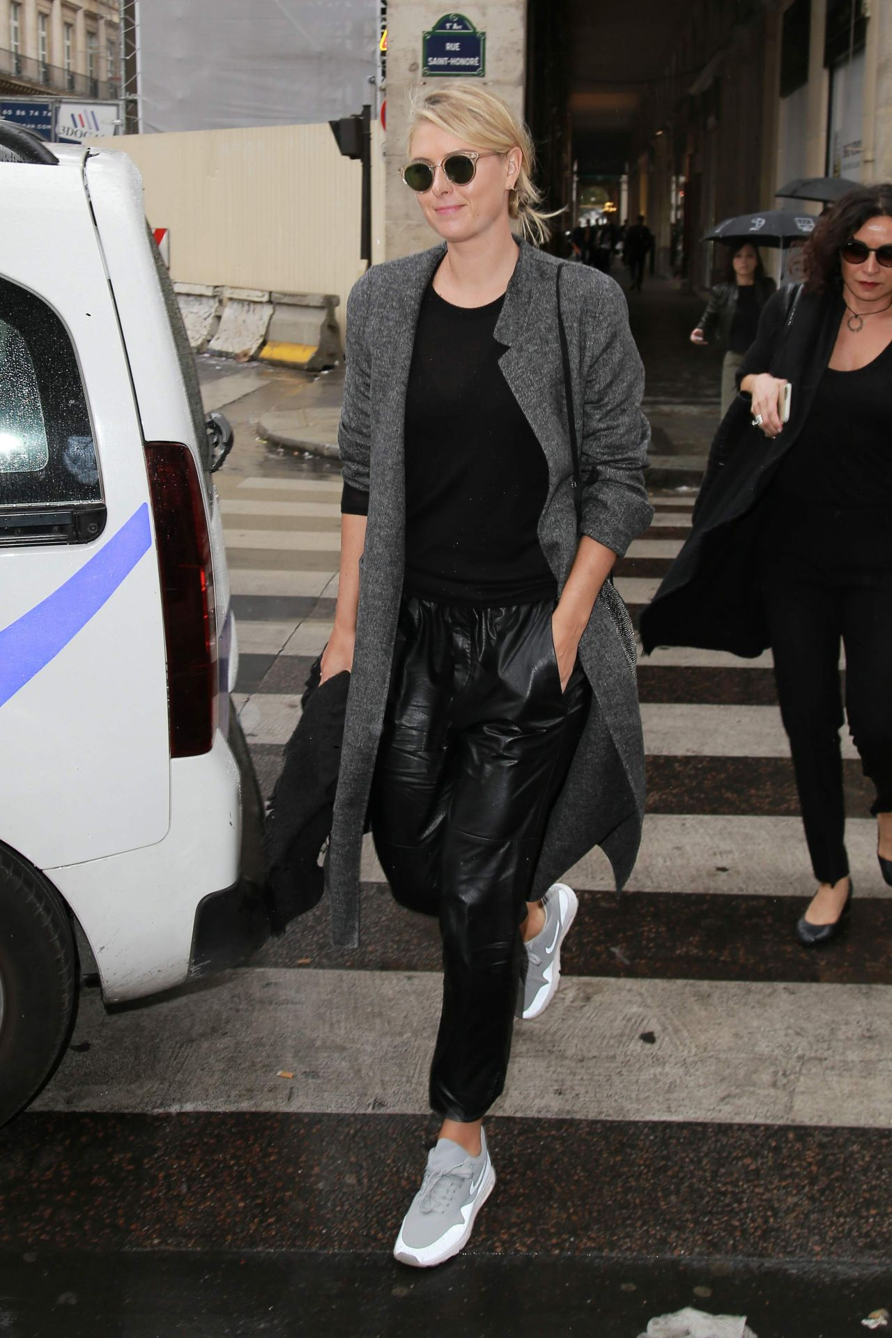 Maria Sharapova Street Style Out In Paris October 2015