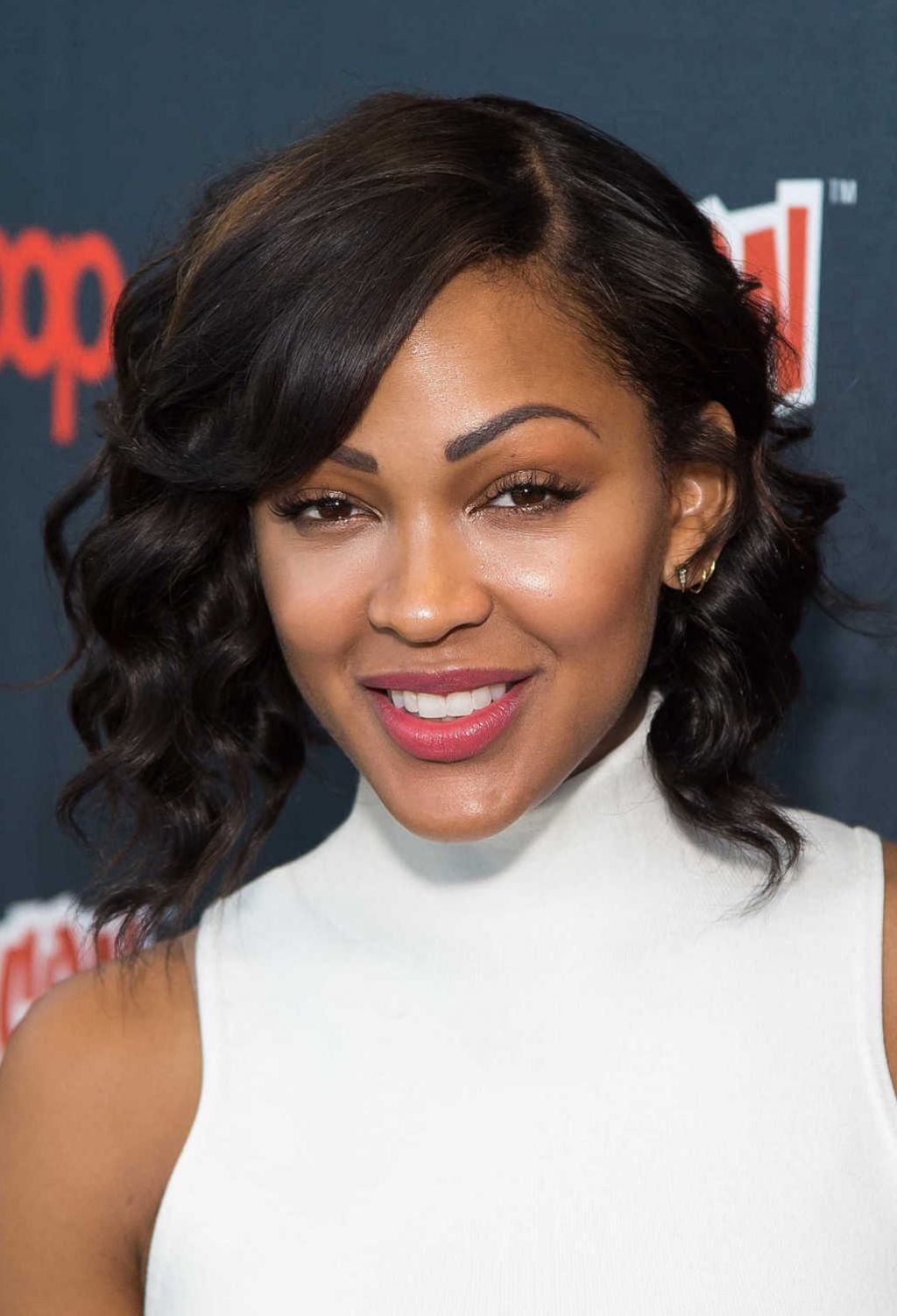 Pics of meagan good hairstyles fade haircut good promoting minority report at 2015 new york comic con urmus Images