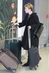 Mia Wasikowska at JFK Airport, October 2015