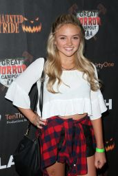 Natalie Alyn Lind - Griffith Park Haunted Hayride Opening Night, October 2015
