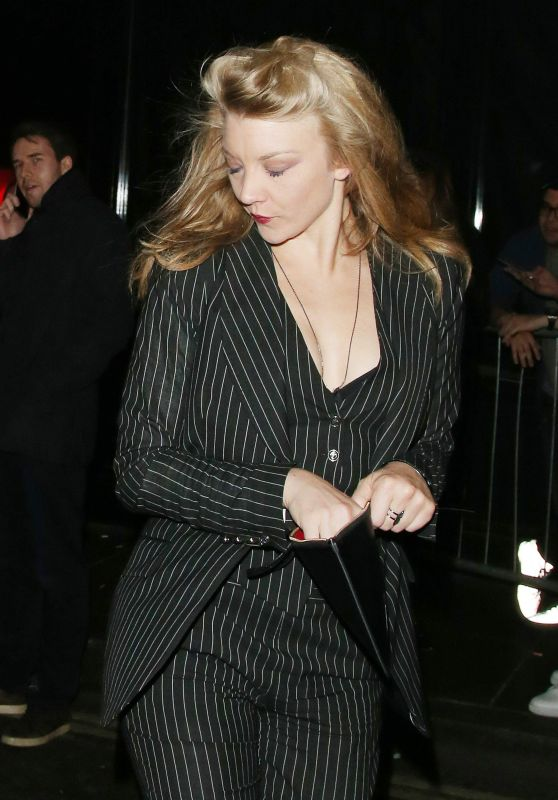 Natalie Dormer - Leaving a Hotel in London, October 2015