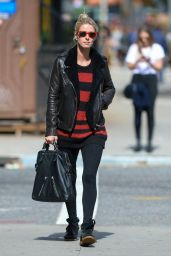Nicky Hilton in a Leather Jacket - Manhattan, October 2015