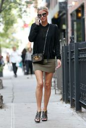 Nicky Hilton Leggy in Mini Skirt - Shopping in NYC, October 2015