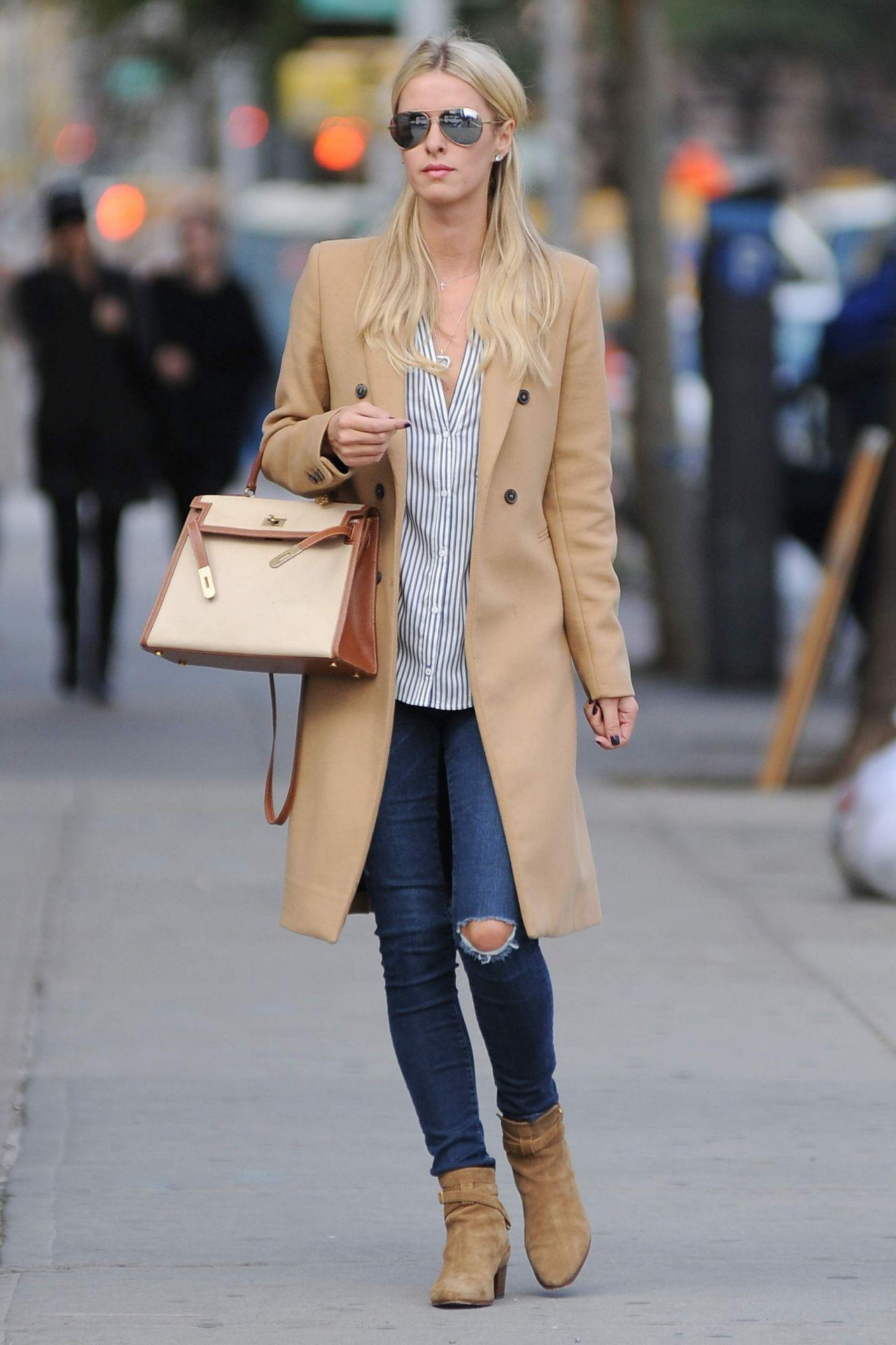 Nicky Hilton Rothschild Street Style New York City October 2015
