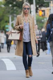 Nicky Hilton Rothschild Street Style - New York City, October 2015