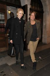 Nicole Kidman & Keith Urban - Leaving the Noel Coward Theatre, October 2015