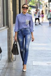 Olivia Culpo in Tight Jeans - Out in West Hollywood, October 2015