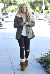 Olivia Holt Casual Style - Out on Melrose Avenue in Los Angeles, October 2015