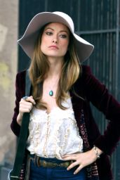 Olivia Wilde - Filming the HBO Series