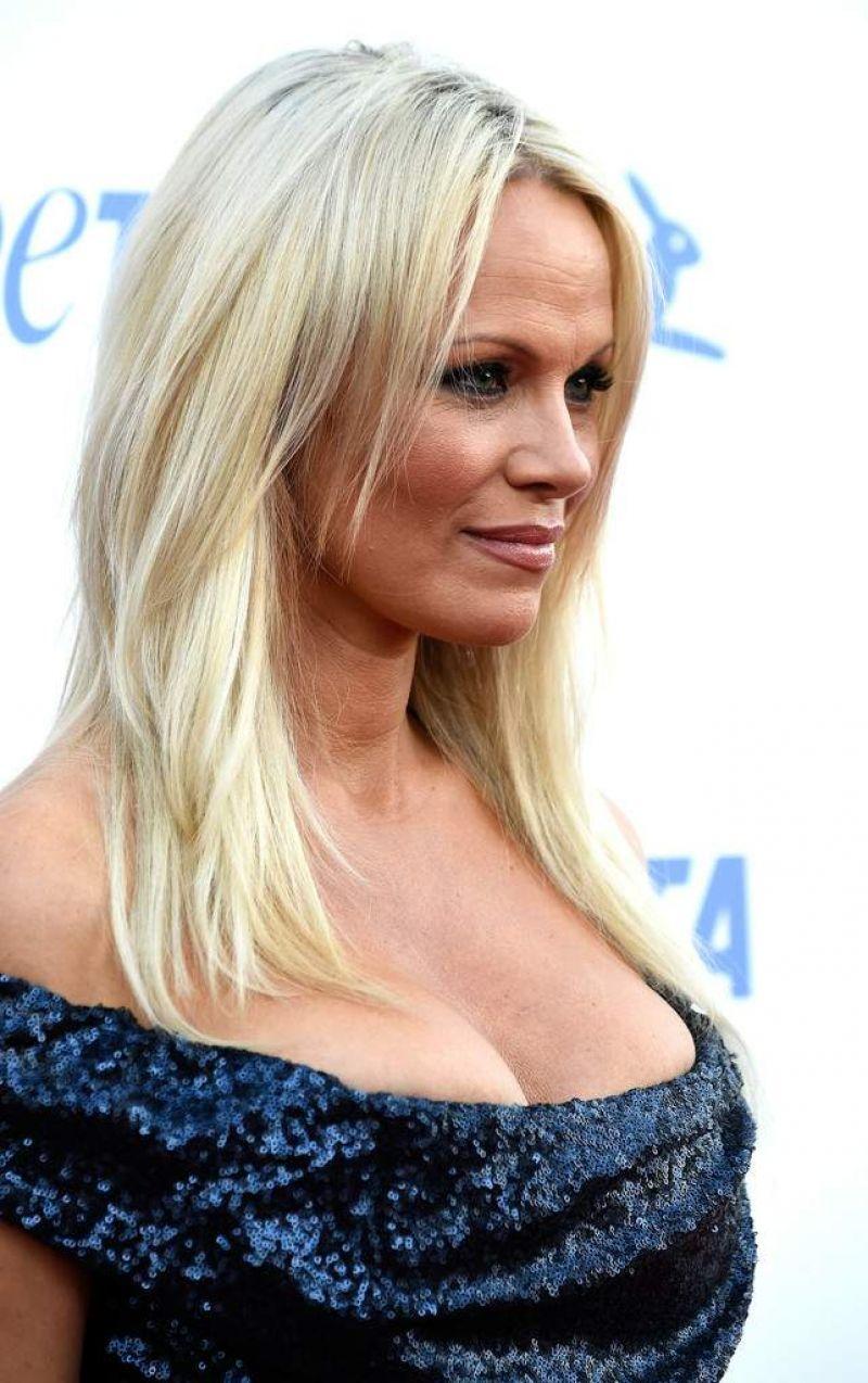 Pamela Anderson – PETA's 35th Anniversary Party in Los Angeles Pamela Anderson