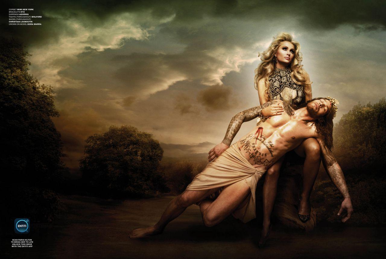 Paris Hilton And God Created Paris Photoshoot For