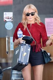 Pixie Lott Leggy in Shorts - Out in Los Angeles, October 2015