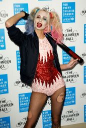 Poppy Delevingne Dressed as Harley Quinn – UNICEF Halloween Ball in London, October 2015