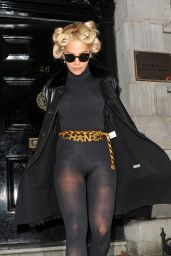 Rita Ora Fashion - Leaving a Hotel in London, October 2015