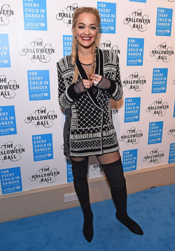Rita Ora - UNICEF Halloween Ball at One Mayfair in London, October 2015
