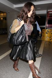 Salma Hayek at LAX Airport, October 2015