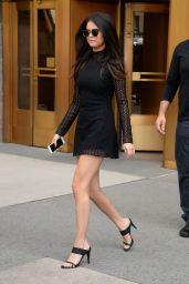 Selena Gomez Hot in Mini Dress - Leaving Her Hotel in NYC, October 2015