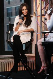 Shay Mitchell at AOL Studios in New York City, October 2015