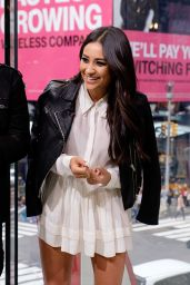 Shay Mitchell - On the Set of Extra in New York City, October 2015