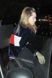Suki Waterhouse - Leaving the Chateau Marmont in LA, October 2015