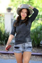 Tammin Sursok in Jeans Shorts - Out in LA, October 2015