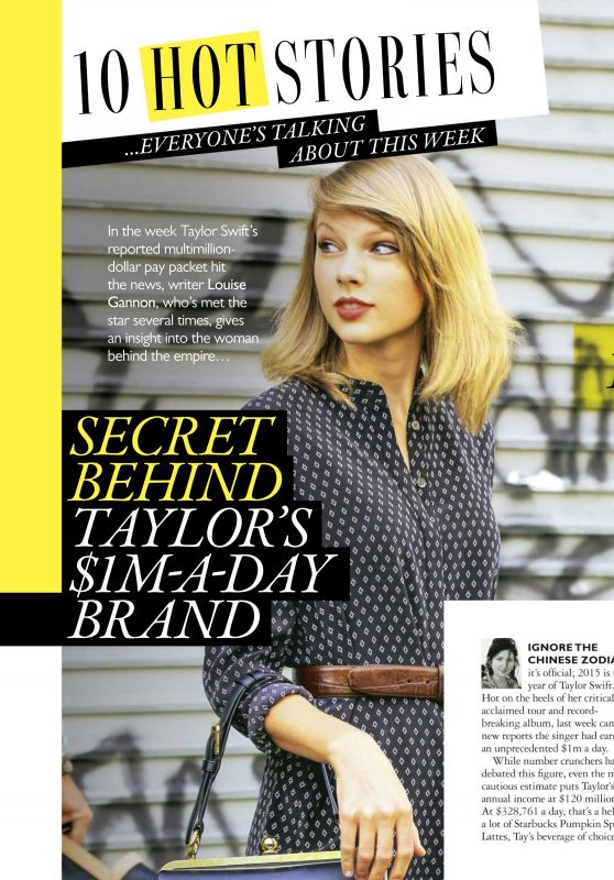 Taylor Swift - Grazia Magazine UK – November 2nd 2015