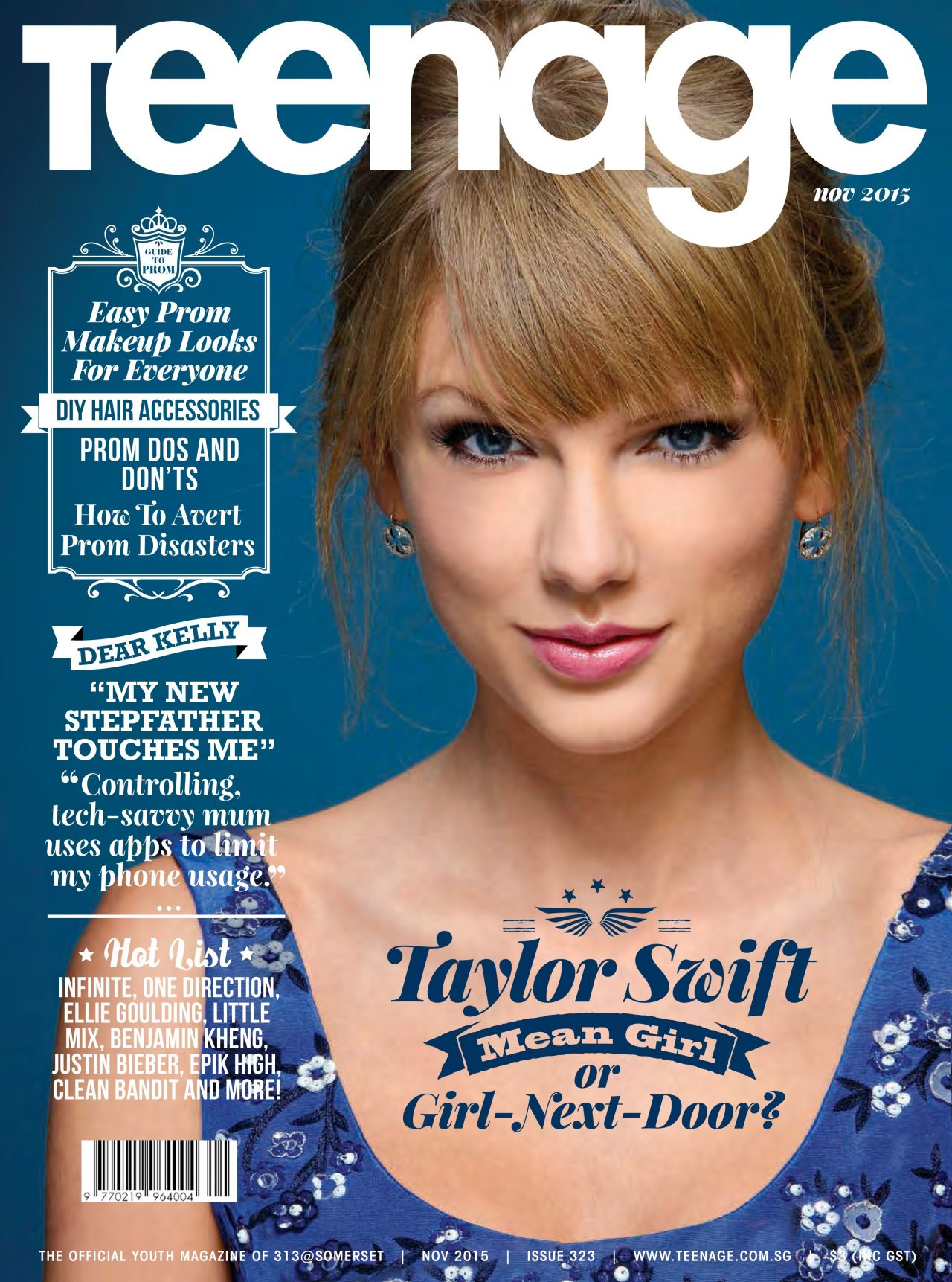 Taylor Swift - Teenage Magazine November 2015 Cover