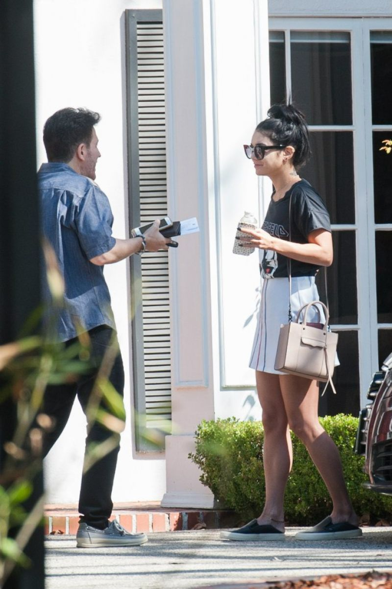 Vanessa Hudgens at a Friend's House in Los Angeles ...
