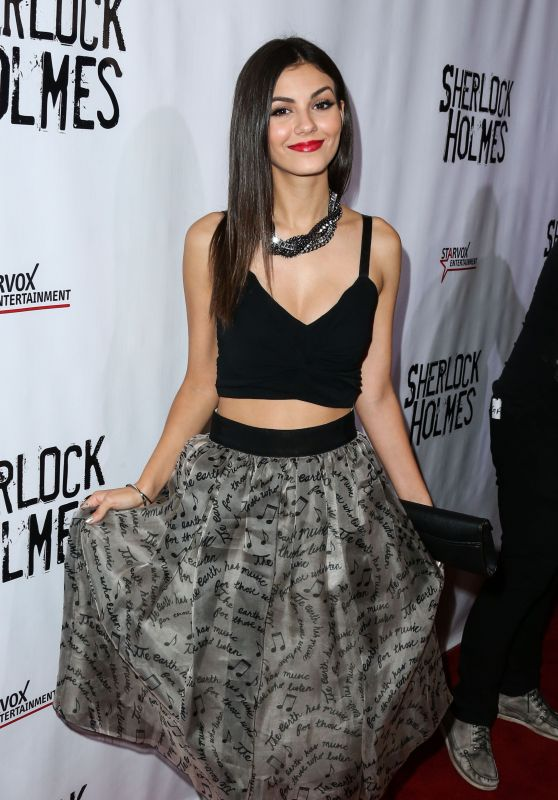 Victoria Justice - Sherlock Holmes Premiere in Los Angeles, October 2015