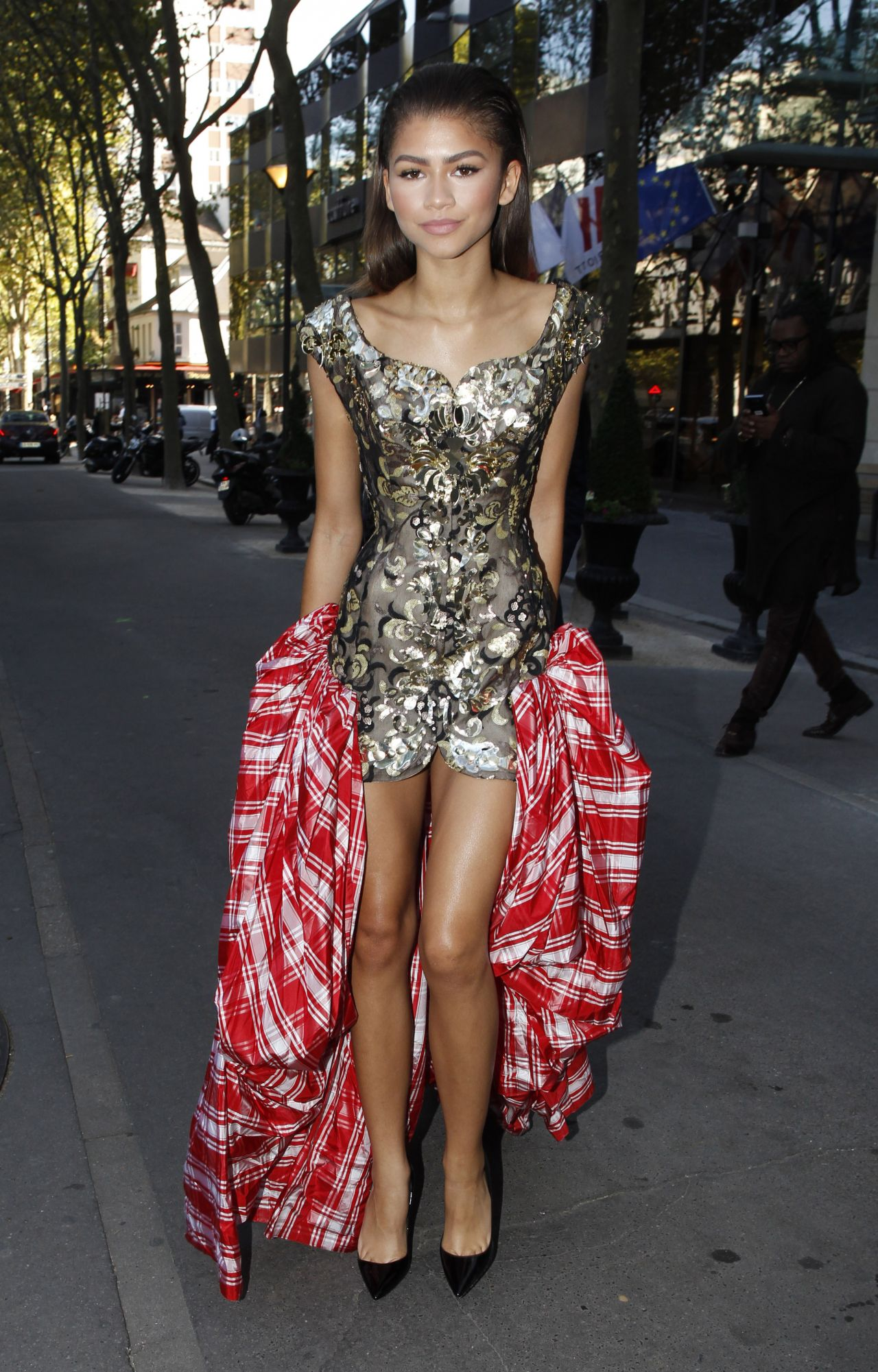 Arriving At Vivienne Westwood Fashion Show In