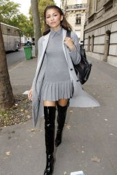 Zendaya Street Fashion - Out in Paris, October 2015