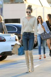 Gigi Hadid in Jeans and High Boots - Los Angeles, November 2015