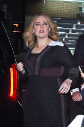 Adele - Outside a Hotel in New York City, November 2015