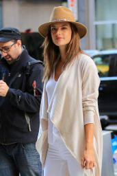 Alessandra Ambrosio - Arriving at the VS building in New York City, November 2015