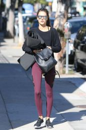 Alessandra Ambrosio - Makes Her Way to a Yoga Class in Brentwood, November 2015