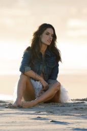 Alessandra Ambrosio - Photoshoot at a Beach in Malibu, November 2015
