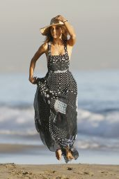 Alessandra Ambrosio - Photoshoot at a Beach in Malibu, November 2015