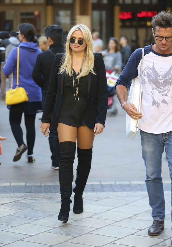 Alli Simpson - Shopping at The Grove in West Hollywood, November 2015