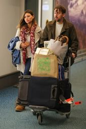 Aly Michalka at Vancouver International Airport, November 2015