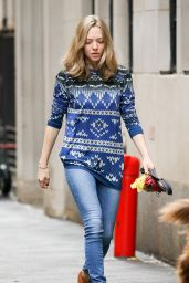 Amanda Seyfried Street Style -NYC, November 2015