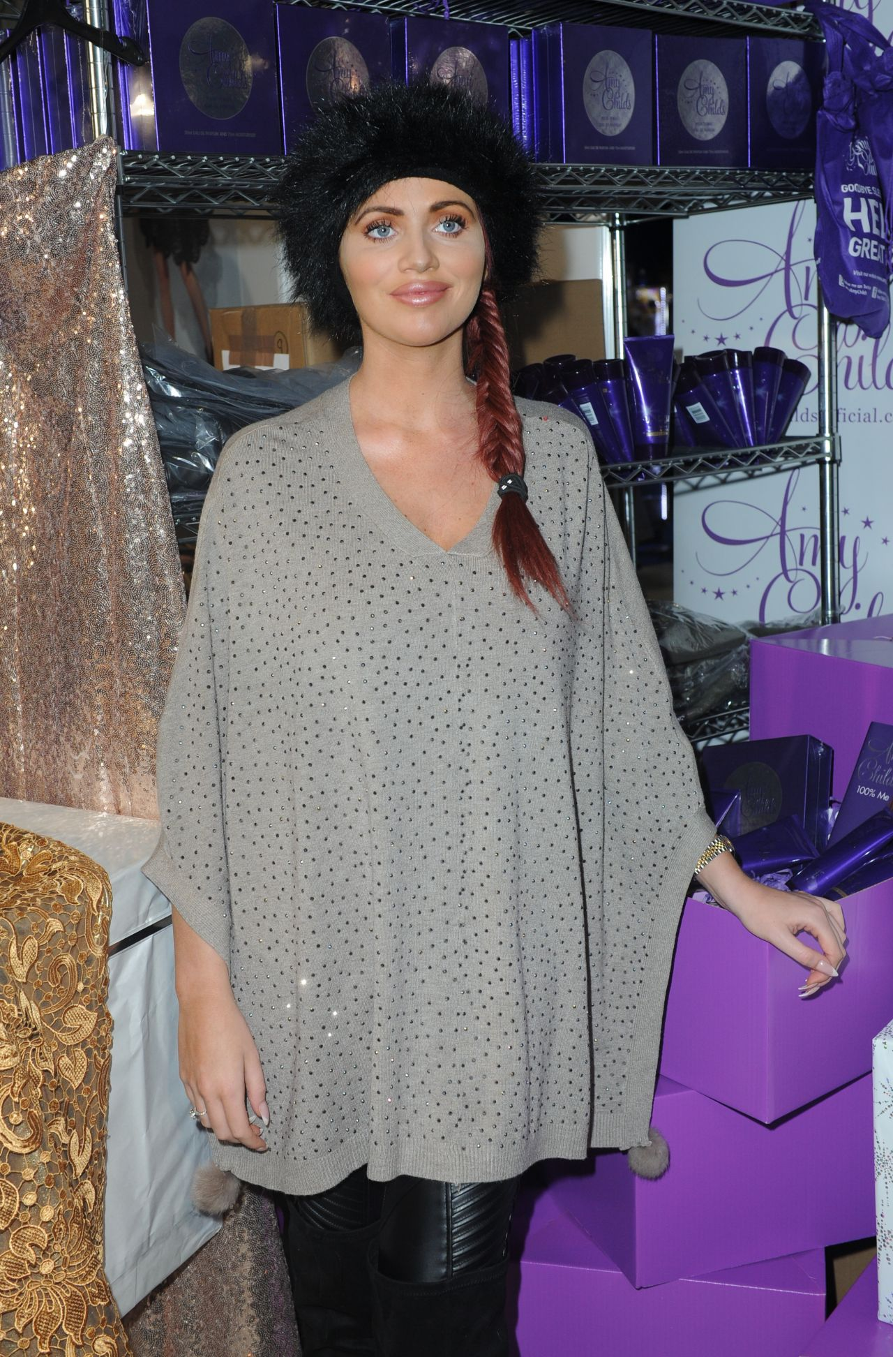 Amy Childs   Ideal Home Show At Christmas, Event City, Manchester, November  2015